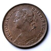 Great Britain 1885  Farthing Queen Victoria Uncirculated Condition.   e6g-51-536