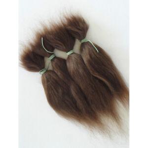 23cm DIY Wig Straight Hair Imitation Mohair for Newborn Baby Doll Dark Brown