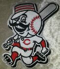 "Внешний вид - Cincinnati Reds Mr. Redlegs 4"" Iron /Sew On Embroidered Patch~FREE SHIP!~"