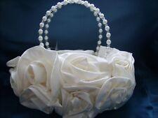 Satin Silk Rose Flower Wedding Evening Handbag Party Clutch Bridal 13 Colours