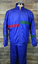 Vintage Mens Fila TrackSuit Blue Color Block Italy Polyester 46 / 40