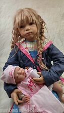 SALE SUNBEAMBABIES LIFESIZE CHILDS BALD REBORN BABY DOLL & GIFT BAG FREE BOTTLE