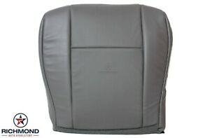 2012 2013 Ford E350 E450 Van-Driver Side Bottom PERFORATED Vinyl Seat Cover Gray
