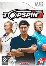 Nintendo WII TOP SPIN 3 * tedesco * ottime condizioni