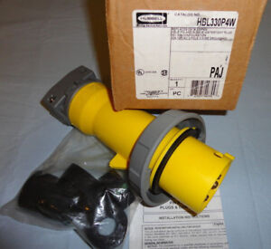 Hubbell Pin&Sleeve HBL330P4W Plug 30A 125V 2P3W Single Phase 330P4W NEW