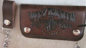 Vintage Lucky 13 motorcycle wallet