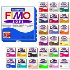 Staedtler Fimo Soft Oven Bake Modelling Clay 12 x Blocks - Assorted Colours 57g