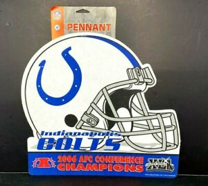 NFL Indianapolis Colts 2006 AFC Conference Champions Die Cut Football Pennant