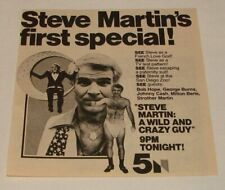 1978 tv special ad ~ STEVE MARTIN: A WILD AND CRAZY GUY