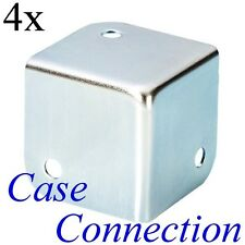 4x Flachecke - 37mm - Stahl - verzinkt  Flat Corner flache Kofferecke Boxen Ecke