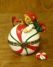 Boyds Resin Ornament #25208 Peppermint Hinged Box Orn Mib from our Retail Store