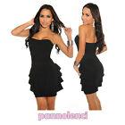 Miniabito bandeau donna vestitino vestito raso abito moda dress DL-700