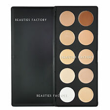 Beauties Factory 10 Color Camouflage Concealer Palette Cream Nature Makeup AZ610