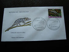 MADAGASCAR - enveloppe 15/6/73 - cameleon nasutus male  - yt n° 526 - (cy5)