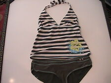 Tankini Swimsuit Womens size L Bottom S Top 2 piece Ladies swim Vacation Beach