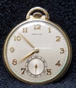HAMILTON 14K Gold Filled 917 Pocket Watch, Signed. It's RARE!!