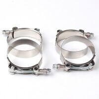 "4X 2.5"" Stainless Steel T-Bolt Clamps Turbo Intake Silicone Hose Coulper Clamps"