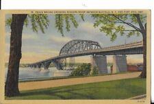 peace bridge crossing niagara falls river buffalo ny postcard dated 1947