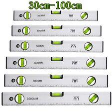 Aluminium Wasserwaage 3 Libellen Magnetwasserwage Präzisionswasserwaage 30-100cm