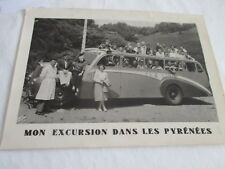 Grande photo souvenir excursion en autobus dans les Pyrénées SLA Lourdes 18x13cm