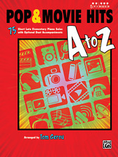 POP & MOVIE HITS-A TO Z-5 FINGER PIANO MUSIC BOOK-BRAND NEW ON SALE-75 SONGS!!