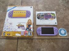 Sony PSP 3000 Hannah Montana Entertainment Pack Lilac Handheld System in Box