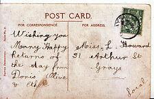 Genealogy Postcard - Family History - Howard - Arthur Street - Grays   A9198