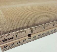 "Vintage Pinwale Corduroy Fabric Tan / Beige /Sand - 12 Wale Yardage - 45""w ×48""L"