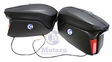 Large Mutazu Universal Detachable Hard Motorcycle Saddlebags Bags, Matte black