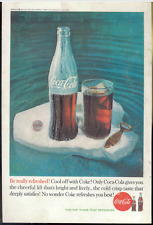Coca Cola Advertisement - Vintage 1960 Coke Soda Pop Iceberg Bottle Cap Print Ad