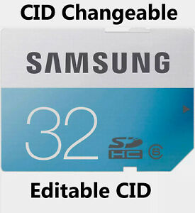Editable CID Samsung EVO  SDHC Card 32GB CID changeable.