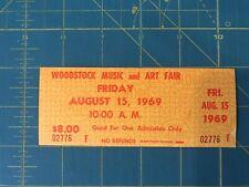 woodstock tickets 1 day 1969