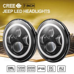 7 inch 200W CREE LED Headlights Hi-Lo Beam For Jeep Wrangler TJ JK 97-17