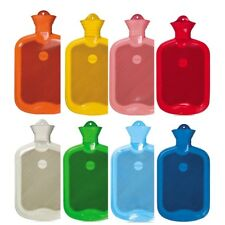 2 Liter Gummi-Wärmflasche, Wärmeflasche, XL-Wärmflasche, Wärmetherapie, Farbwahl