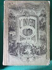 L'UNIVERSO ILLUSTRATO Anno 2 1867/1868 Annata Completa - 52 numeri