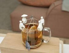 KIKKERLAND Tea bags Holder Jiang Tai gong NEW/OVP Chinese Fisher Set Of 4
