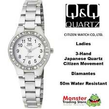 AUSSIE SELER LADIES DRESS WATCH CITIZEN MADE SILVER Q691J204 DIAMANTES WARRANTY