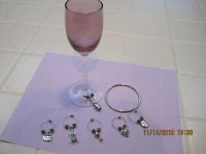 Wine Glass markers, charms Set of 6, from Halls, Kansas City  Very Classy Look