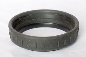 Unbranded 46mm screw in shallow plastic lens hood.