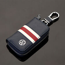 High-grade Leather Car Remote Key Chain Holder Case Bag Fit For Volkswagen Auto