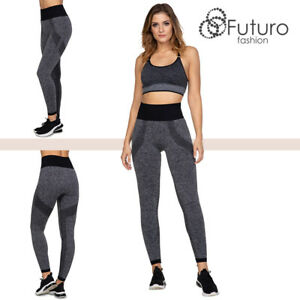 Ultra Slimming Wide Waistband Leggings Women's Shaping Fitness Gym Pants FG6251