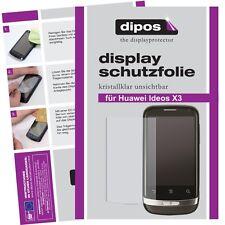1x Huawei Ideos X3 Schutzfolie klar Displayschutzfolie Folie unsichtbar Display