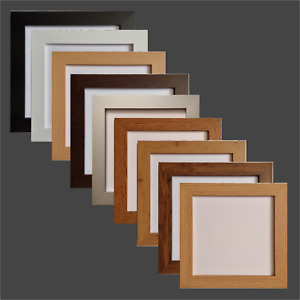 UNIQUE POSTER & PHOTO FRAMES, SQUARE MODERN WOODEN EFFECT, PICTURE FRAMES