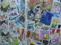 JAPAN 500 off paper mixture (duplicates,mixed cond)all ages 97% commemoratives!