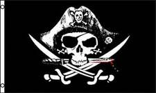 Dead Man's Chest Pirate Flag 3x5 ft Jolly Roger Sabers Swords Deadman Poly
