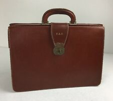 Vintage Brown Leather Doctors Gladstone Bag Briefcase