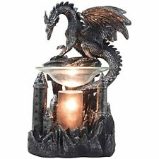 Mythical Winged Dragon Guarding Castle Electric Oil Warmer Or Wax As Free Ship