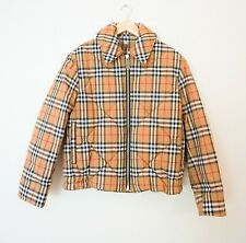 BURBERRY Vintage Check Diamond Quilted Jacket UK 10