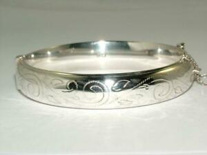 STUNNING 1964 SOLID SILVER BANGLE BRACELET STERLING FULL HALLMARKS A1 CONDITION