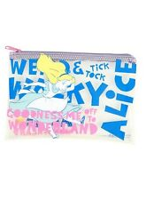 Disney Alice In Wonderland Pencil Case Zip Bag Quote Clear Cosmetic Bag